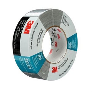 3M™ DUCT TAPE, 3939, SILVER, 50 MM X 55 M, 24 PER CASE