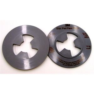 3M DISC PAD FACE PLATE, 13325, SMOOTH, MEDIUM, GREY, 4-1/2""