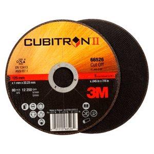 "3M 66526 - CUBITRON II CUT-OFF WHEEL, T1, 5"" X .045"" X 7/8"""