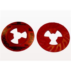 3M DISC PAD FACE PLATE, 81728, RIBBED, EXTRA-HARD, RED, 9""
