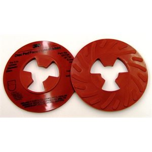 3M DISC PAD FACE PLATE, 81732, RIBBED, EXTRA-HARD, RED, 5""
