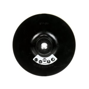 "3M DISC PAD HOLDER 9450, 7"" X 5/16"" X 3/8"" 5/8-11 INTERNAL"