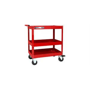 GRAY TOOLS 93514 - PRO+ SERIES UTILITY CART WITH 3 SHELVES