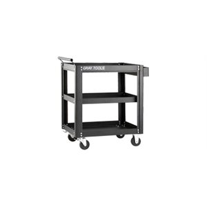 GRAY TOOLS 97503B - MARQUIS SERIES UTILITY CART WITH 3 SHELVES